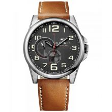 Tommy Hilfiger Frederick Men's Black Dial Leather Band Watch [1791004]